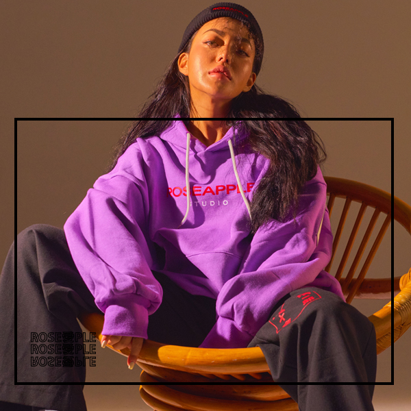[로즈애플:ROSEAPPLE]   PATCH HOODIE - PURPLE