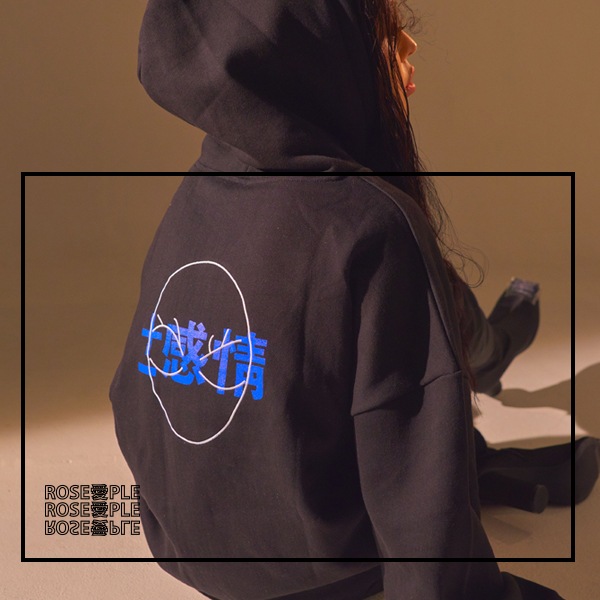 [로즈애플:ROSEAPPLE]   PATCH HOODIE - BLACK