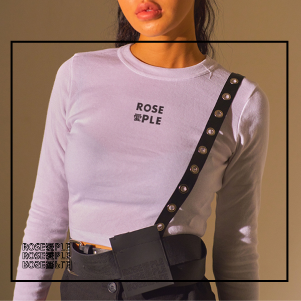 [로즈애플:ROSEAPPLE] LONG-SLEEVE CROP T-WHITE