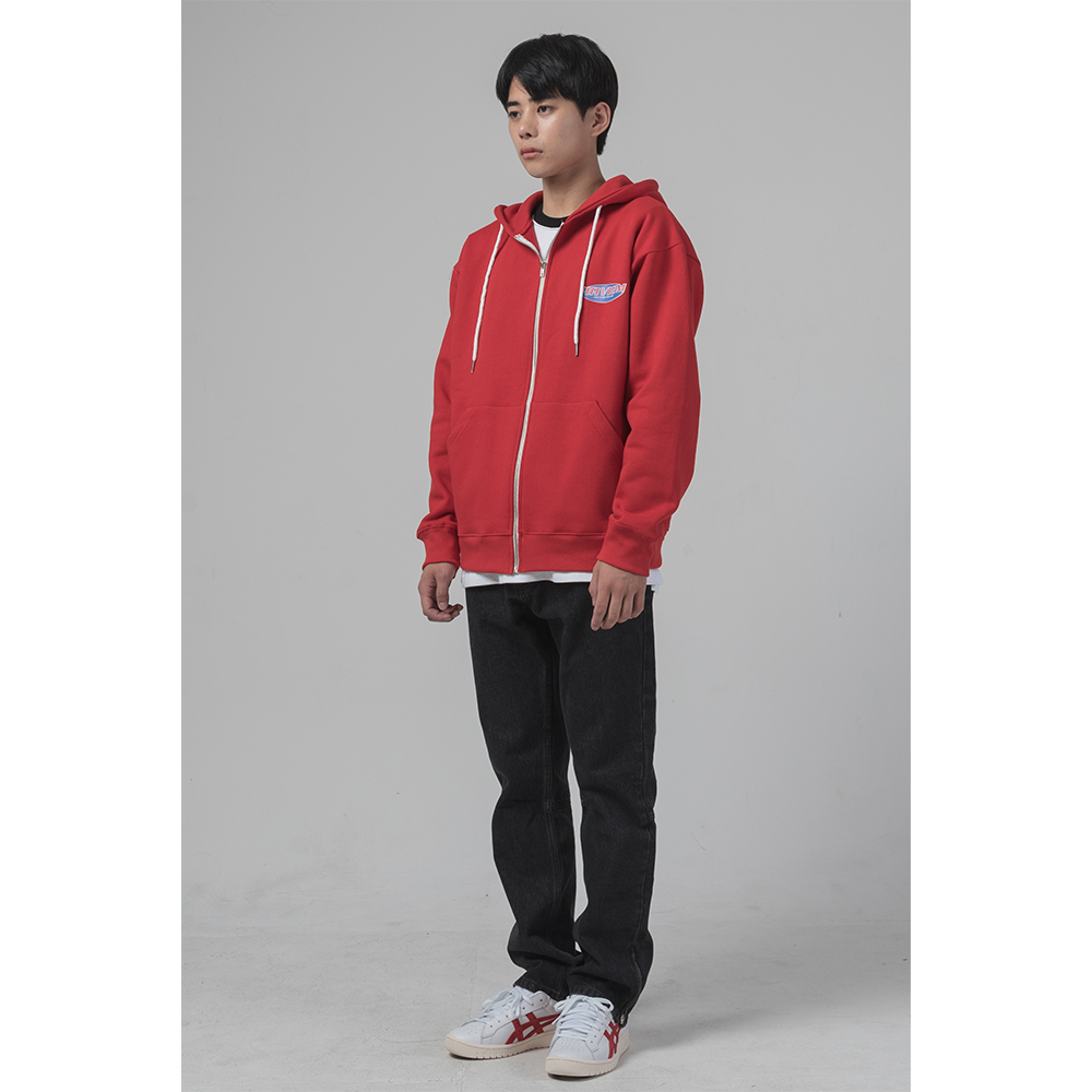 [해비즘 : HAVISM ] DIGITAL LOGO ZIPUP HOOD (RED)
