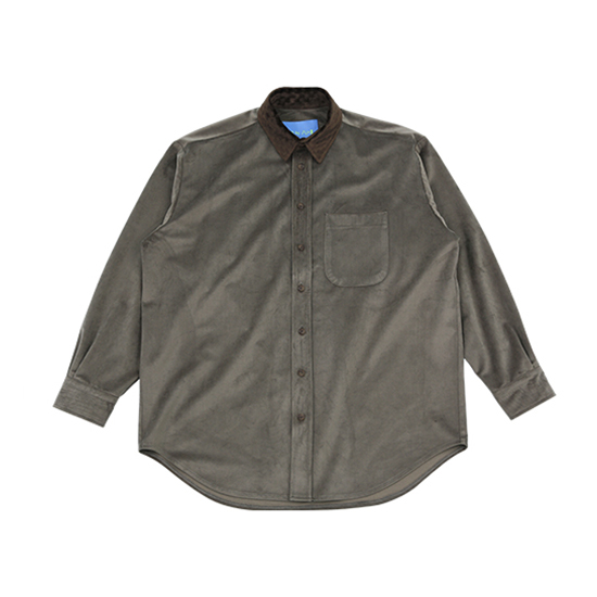 [아조바이아조 :AJOBYAJO FINK] Velvet Shirt [Warm Grey]