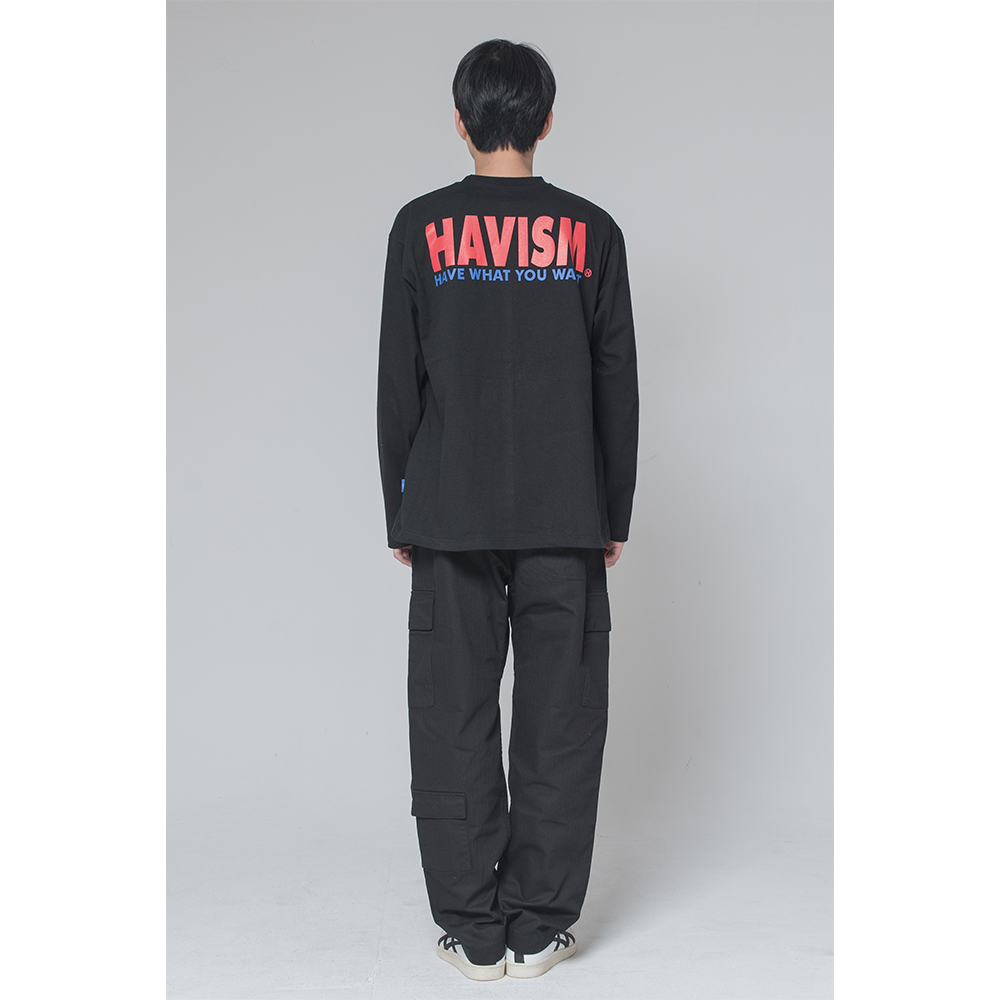 [해비즘 : HAVISM ] LOGO L/S TEE VER.2 (BLACK)
