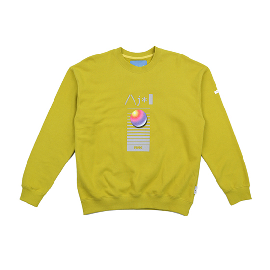 [아조바이아조 :AJOBYAJO FINK] Video Sweatshirt [Lime]