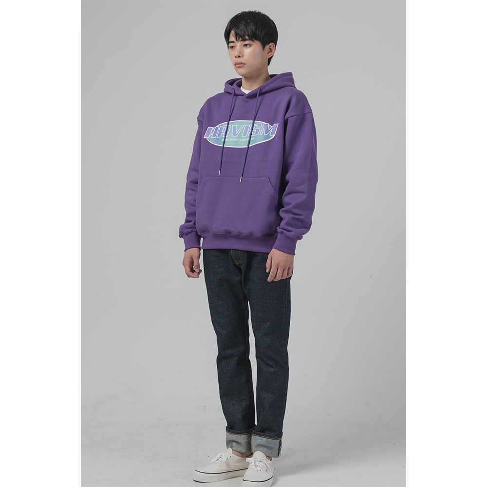[해비즘 : HAVISM ] DIGITAL LOGO HOOD (PURPLE)