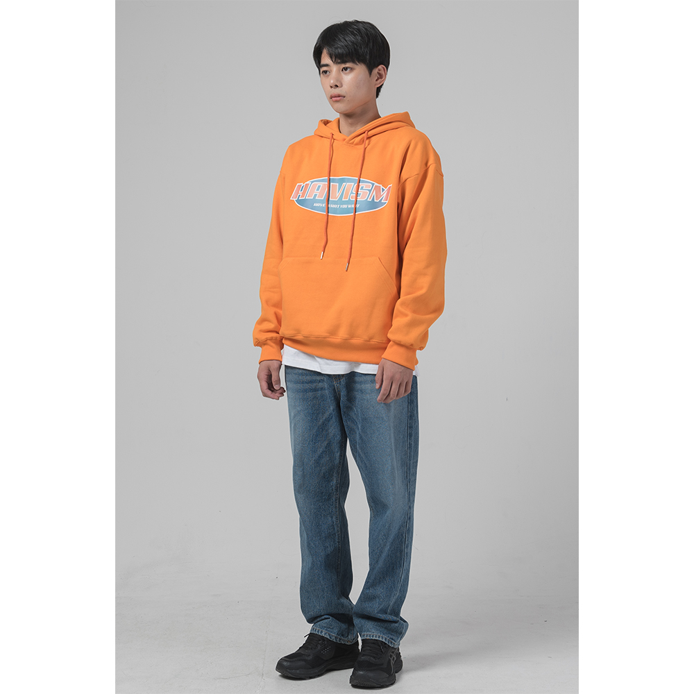 [해비즘 : HAVISM ] DIGITAL LOGO HOOD (ORANGE)