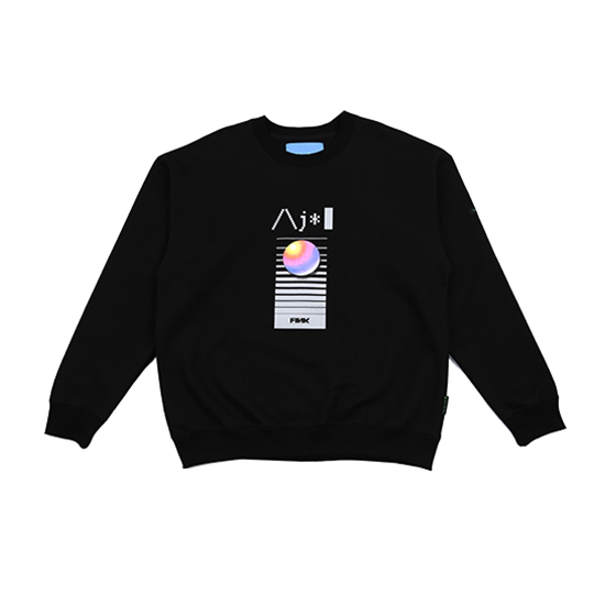 [아조바이아조 :AJOBYAJO FINK] Video Sweatshirt [Black]