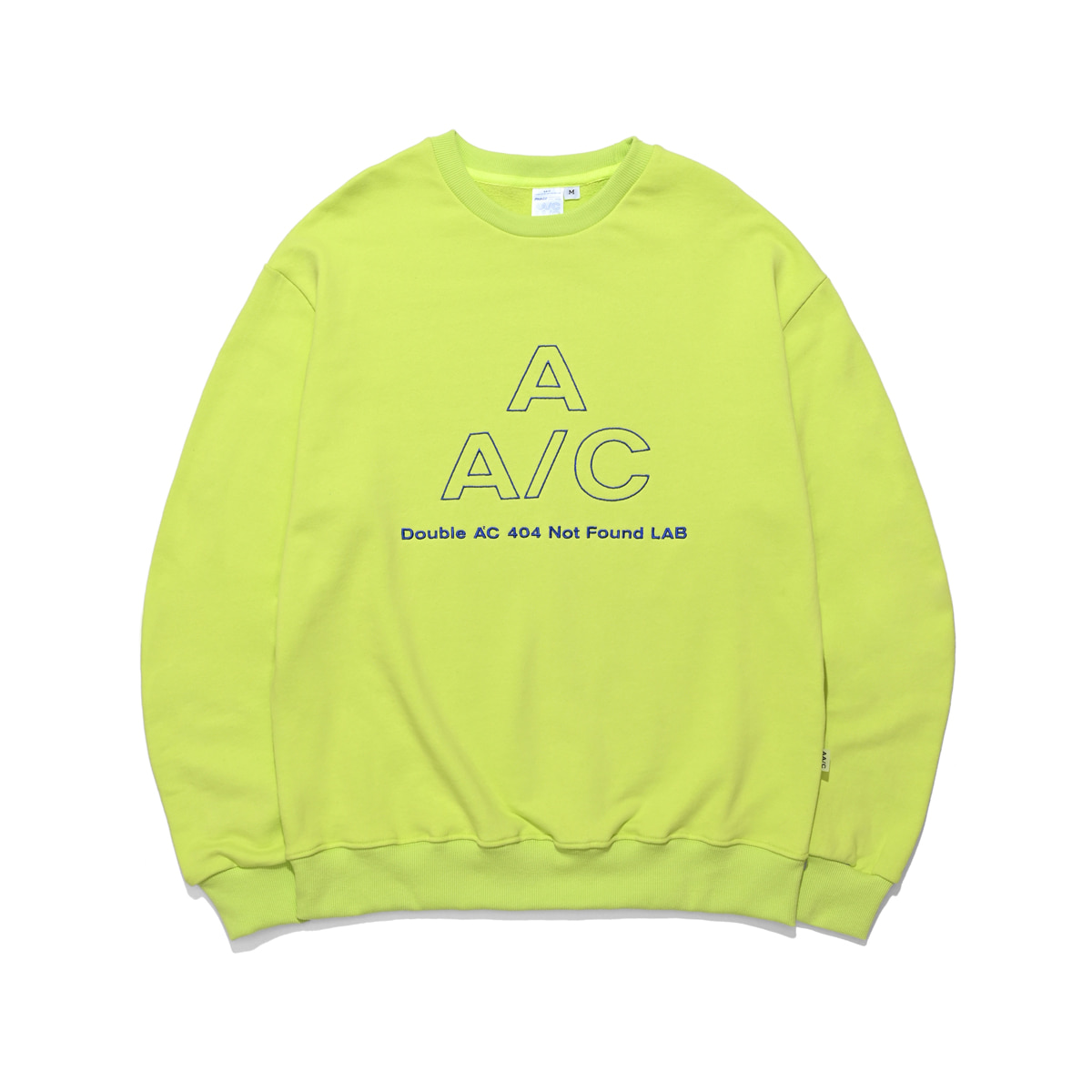 [더블에이씨:AAC] EMBROIDERED LOGO CREWNECK (neon)