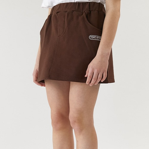 [너트앤볼트:NUTANDBOLT] NABT STUDIO A-LINE SKIRT (BROWN)