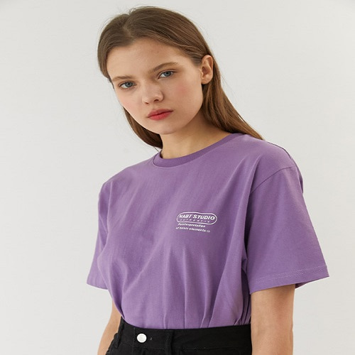 [너트앤볼트:NUTANDBOLT] NABT BASIC HALF T-SHIRTS (LIGHT PURPLE)