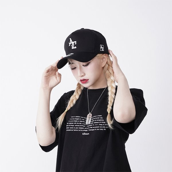 [A.CLOWN:에이클라운] AC Logo Pinch Deep Ball-Cap BLACK