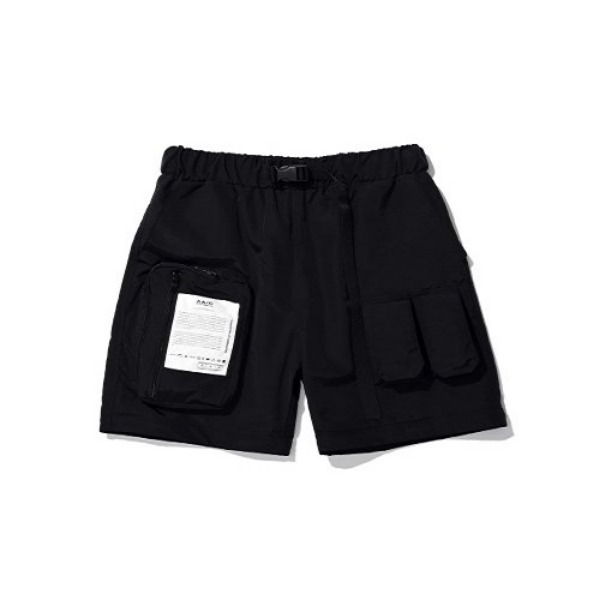 [더블에이씨:AAC] Zippered Hybrid Shorts/Pants (black)