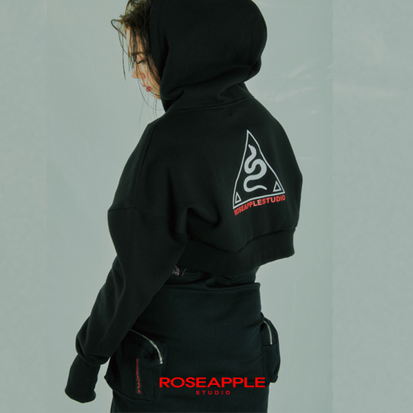 [로즈애플:ROSEAPPLE] WARMER CROP HOOD ZIP-UP
