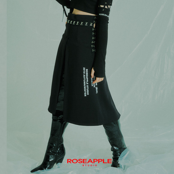 [로즈애플:ROSEAPPLE] HOOK OPEN SKIRT
